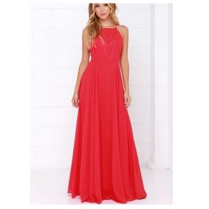 Mythical kind of love red maxi dress by Lulus